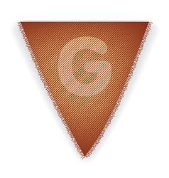 Bunting flag letter g vector