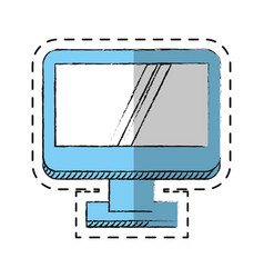 Cartoon computer screen device technology vector