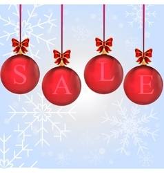 christmas sale in colorful balls vector image