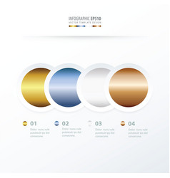 circle overlap infographic gold color style vector image