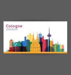Cologne colorful architecture vector