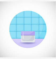 Cosmetics product flat icon vector