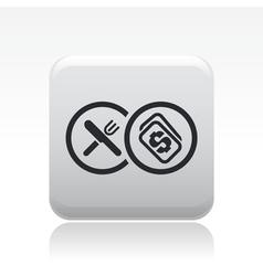 food buy icon vector image vector image