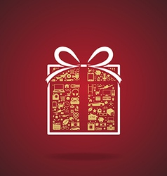 gift box and icon vector image