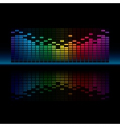 graphic equalizer vector image
