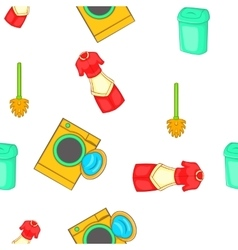 House cleaning pattern cartoon style vector