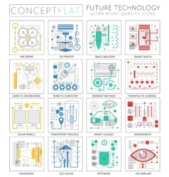 Infographics mini concept future technology icons vector