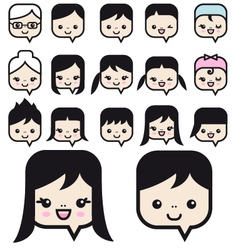 people faces icon set vector image