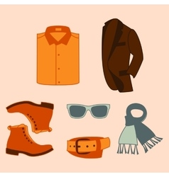 Set of fashion accessories and vector
