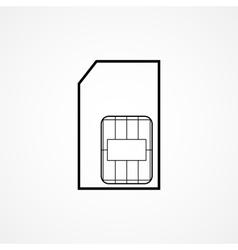 sim card symbol vector image