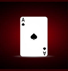 spade ace on dark background vector image
