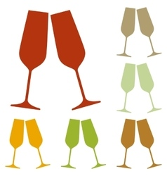 Sparkling champagne glasses vector image vector image