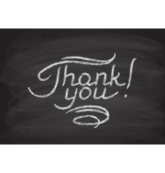 Thank you hand-drawn lettering vector image vector image