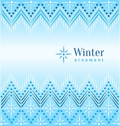 Vintage winter ethnic ornamental vector