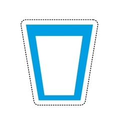 Water glass emblem isolated icon vector
