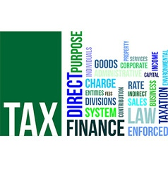 word cloud tax vector image vector image