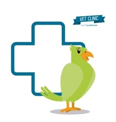 Veterinarian pet clinic icon vector