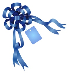 Tag and ribbon vector