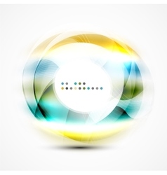 Modern shiny blurred swirl template vector