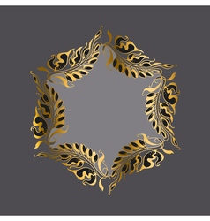 Gold on gray art nouveau style vector