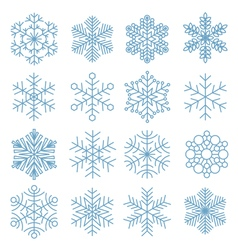 Snowflake icon collection vector image