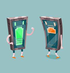 Mobile phone full low battery charge energetic vector
