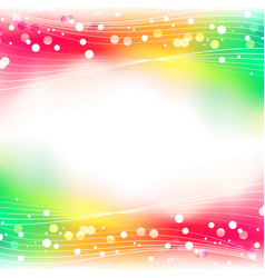 rainbow abstract defocused bokeh lights background vector image