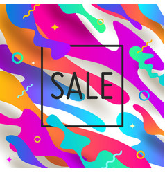 Abstract background with multicolored shape vector