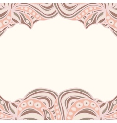 Abstract pink borders vector image