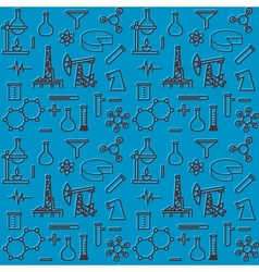 Seamless pattern of scientific icons vector