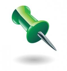 drawing pin illustration vector image