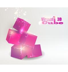 Glow box pyramid vector image