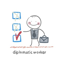 Diplomatic worker vector