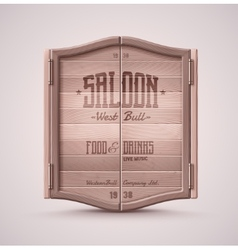 Saloon doors vector
