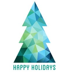 Abstract polygon christmas tree vector