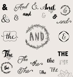Calligraphic Vintage Design Elements vector image