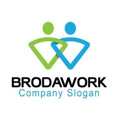 Broda work design vector