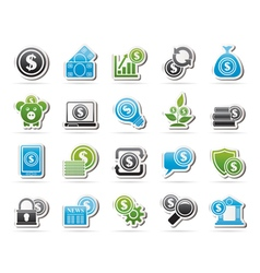 Business money and finance icons vector