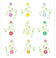 Flowers on white background vector