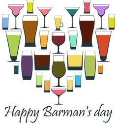 Happy barman day vector