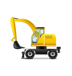 Excavator isolated on white vector image