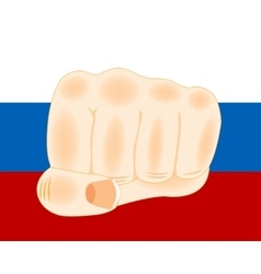Flag and fist vector