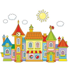 Toy town vector