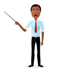 African attractive young man presenting vector