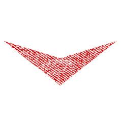 arrowhead down fabric textured icon vector image vector image