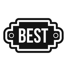 Best label icon simple style vector