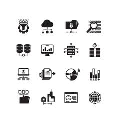 Big data database analytics cloud computing vector