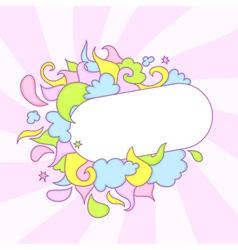 Candy frame vector