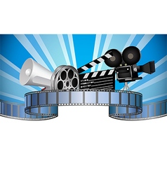 Cinema movie film and video media industry vector image vector image
