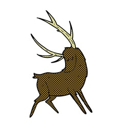 Comic cartoon stag vector